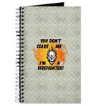 Firefighter Skull and Flames Journal