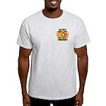 Firefighter Skull and Flames Light T-Shirt