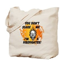 Firefighter Skull and Flames Tote Bag