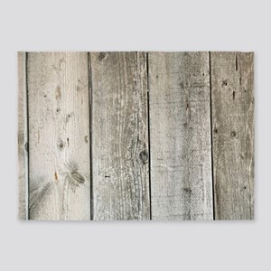 french country whitewashed wood 5'x7'Area Rug
