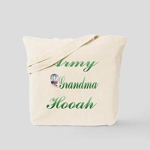 army grandma hooah Tote Bag