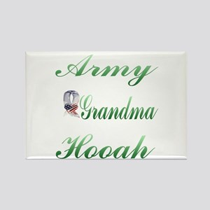 army grandma hooah Rectangle Magnet