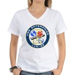 USS Enterprise (CVN 65) Women's V-Neck T-Shirt
