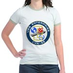 USS Enterprise (CVN 65) Jr. Ringer T-Shirt