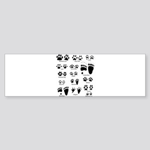North American Predator Track Bumper Sticker