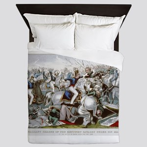 kentucky cavalry Queen Duvet