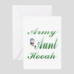 army aunt hooah Greeting Card