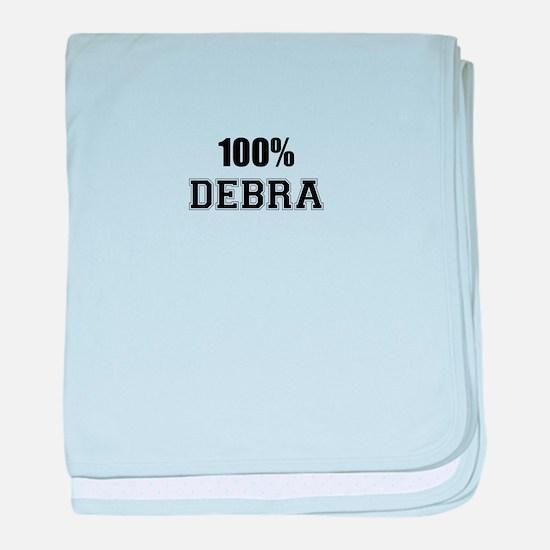 100% DEBRA baby blanket