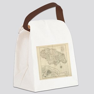Vintage Map of Jamaica (1771) 2 Canvas Lunch Bag