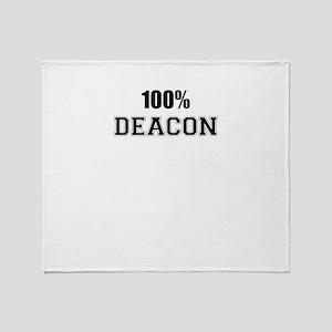 100% DEACON Throw Blanket