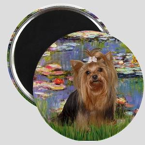 Monet's Lilies & Yorkie #7 Magnet
