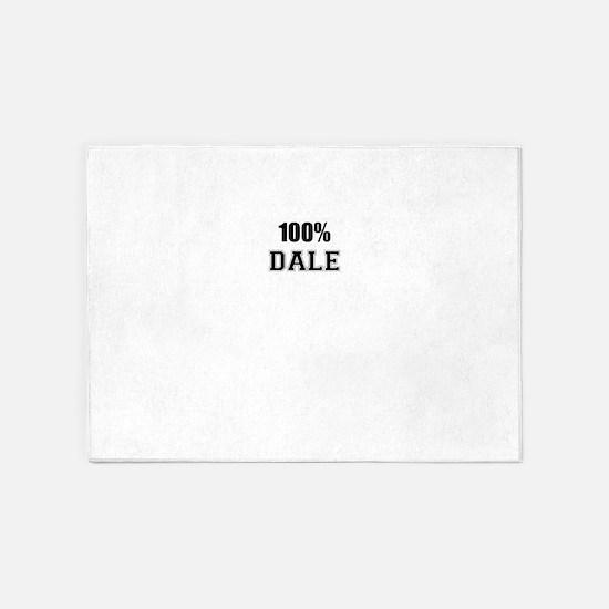 100% DALE 5'x7'Area Rug