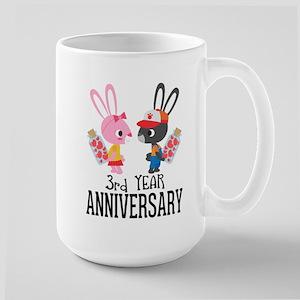 3rd Anniversary Couple Bunnies Mugs