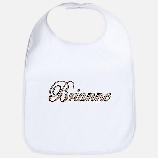 Gold Brianne Baby Bib