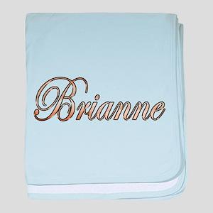 Gold Brianne baby blanket