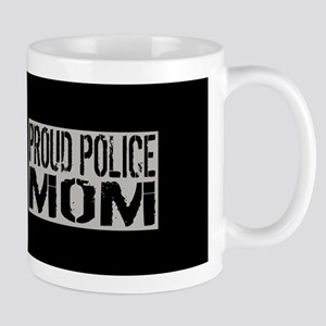 Police: Proud Mom (Black Flag Blue Line Mug