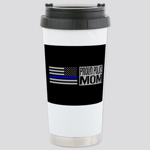 Police: Proud Mom (Blac Stainless Steel Travel Mug