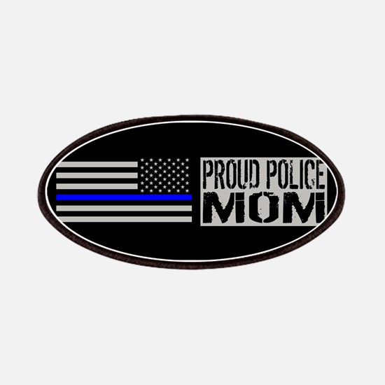Police: Proud Mom (Black Flag Blue Line) Patch