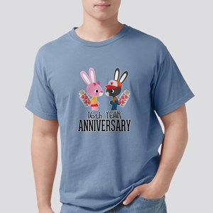 16th Anniversary Couple Bunnies T-Shirt