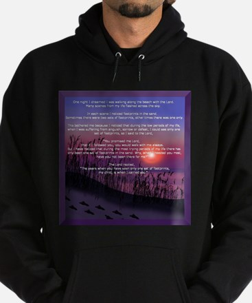Footprints in the Sand Hoodie (dark)