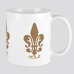 NOLA Brown Fleur Mug