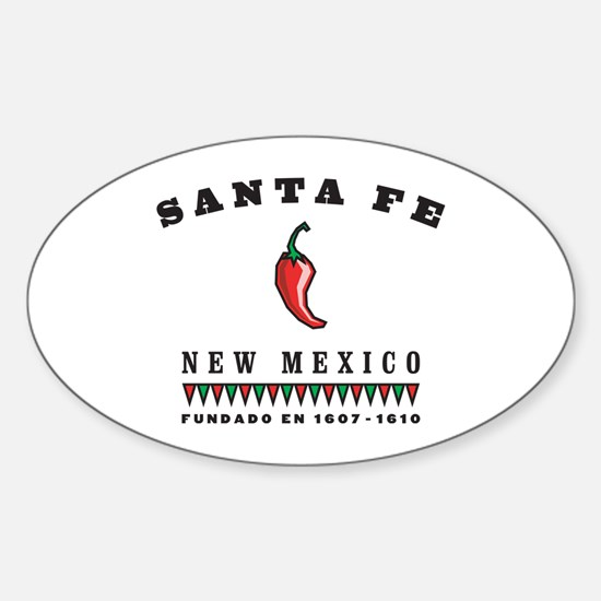 Santa Fe Pepper Oval Stickers