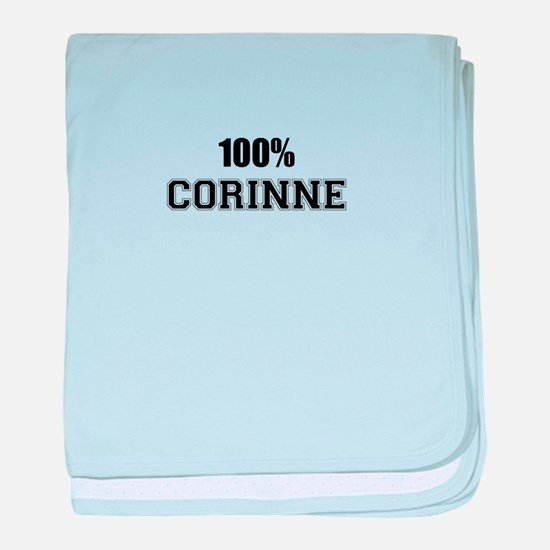 100% CORINNE baby blanket