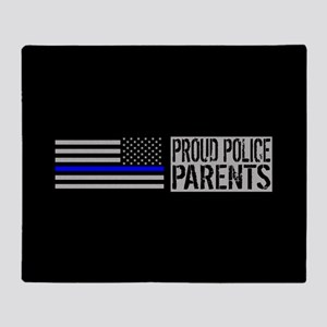 Police: Proud Parents (Black Flag Bl Throw Blanket