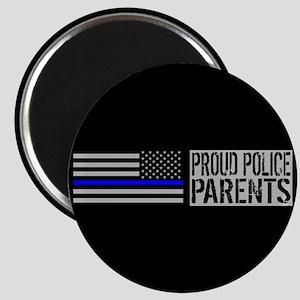 Police: Proud Parents (Black Flag Blue Line Magnet