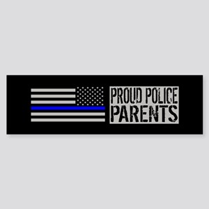 Police: Proud Parents (Black Flag Sticker (Bumper)