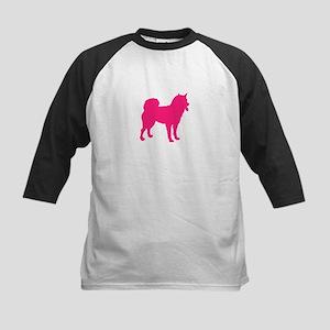 Pink Design Kids Baseball Jersey