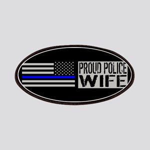 Police: Proud Wife (Black Flag Blue Line) Patch