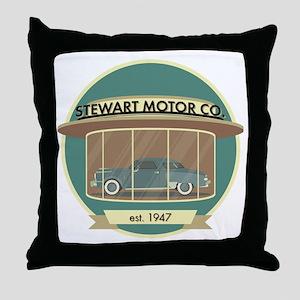 Stewart Motor Company Phoenix 1947 Throw Pillow