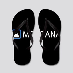 Montana Rocky Mountains Flip Flops
