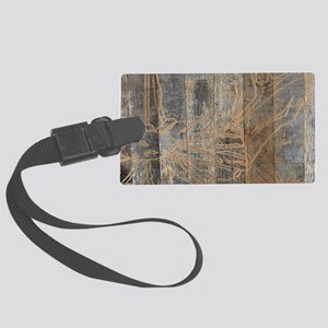 rustic country bohemian wooden Large Luggage Tag