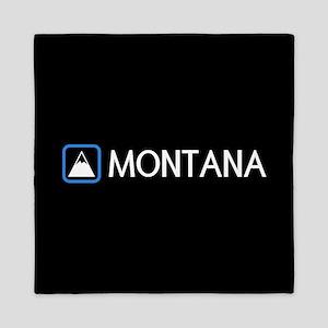 Montana Rocky Mountains Queen Duvet
