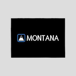 Montana Rocky Mountains 5'x7'Area Rug