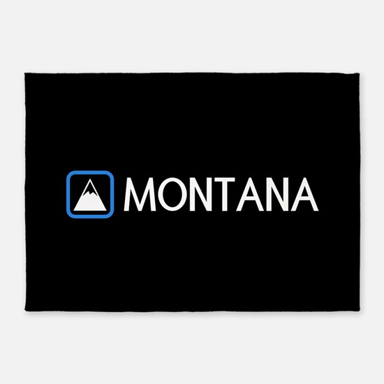 Montana Rocky Mountains 5'x7'Area Rug