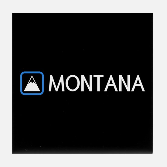 Montana Rocky Mountains Tile Coaster