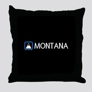 Montana Rocky Mountains Throw Pillow