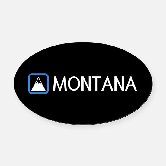 Montana Rocky Mountains Oval Car Magnet