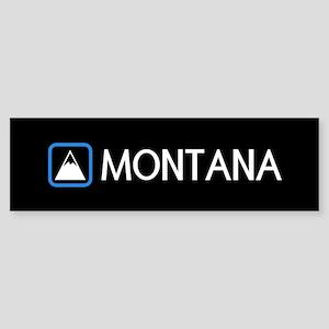 Montana Rocky Mountains Sticker (Bumper)