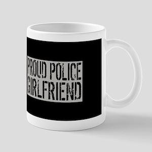 Police: Proud Girlfriend (Black Flag Bl Mug