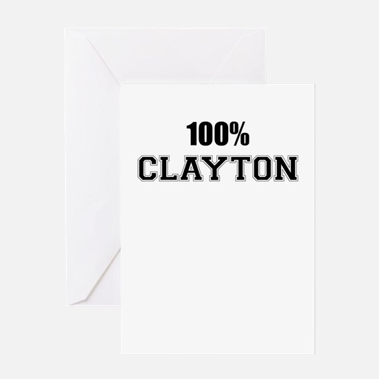 100% CLAYTON Greeting Cards