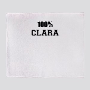 100% CLARA Throw Blanket