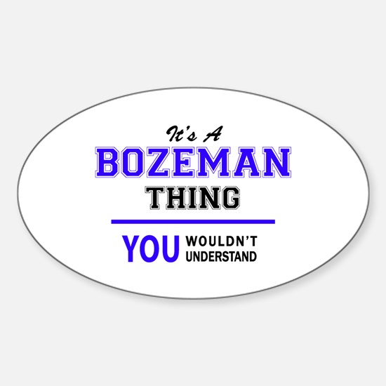 BOZEMAN thing, you wouldn't understand! Decal