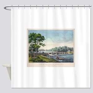 harlem river Shower Curtain