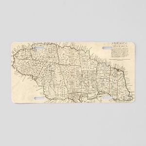 Vintage Map of Jamaica (177 Aluminum License Plate