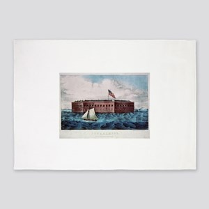 fort sumter 5'x7'Area Rug