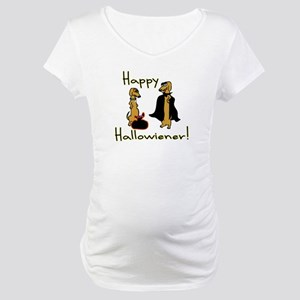 Happy Hallowiener! Maternity T-Shirt